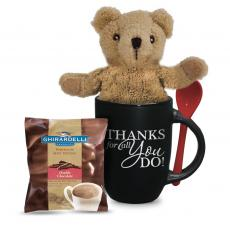 Candy & Food Gifts - Bear & Hot Cocoa Gift Set