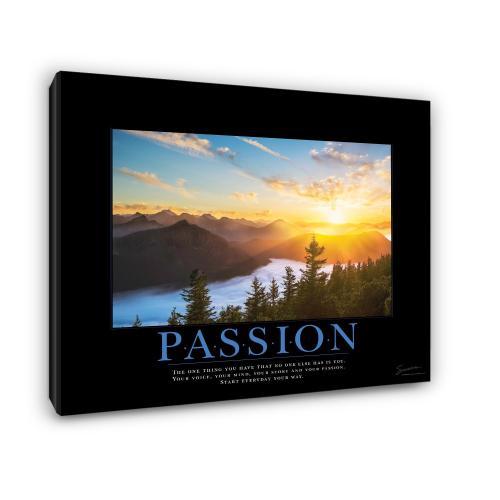 Passion Sunrise Motivational Poster