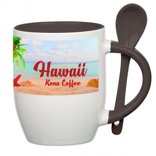 11 Oz. Full Color Stoneware Spooner Mug
