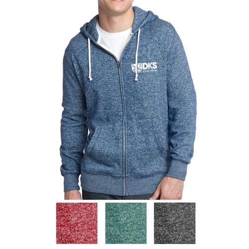 District® Young Men's Marled Fleece Full-Zip Hoodie