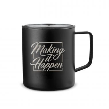 Make it Happen Square 14oz. Travel Camp Mug