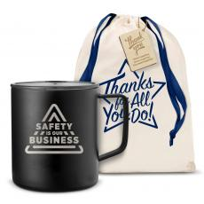 Vacuum Insulated - Safety is Our Business 14oz. Travel Camp Mug