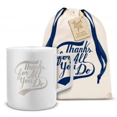 Camp Mug - Thanks for All You Do 14oz. Travel Camp Mug