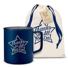 Vacuum Insulated - Thanks for All You Do Star 14oz. Travel Camp Mug