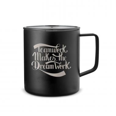 Teamwork Dream Work 14oz. Travel Camp Mug