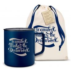Camp Mug - Teamwork Dream Work 14oz. Travel Camp Mug