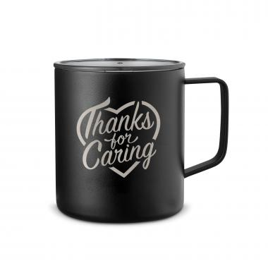 Thanks for Caring 14oz. Travel Camp Mug