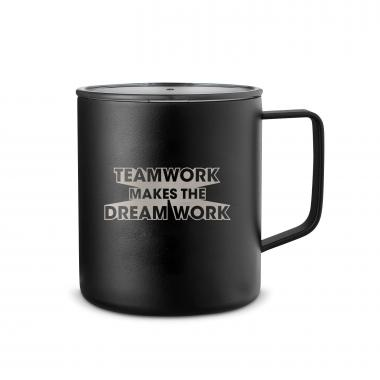 Teamwork Dream Work 3D 14oz. Travel Camp Mug