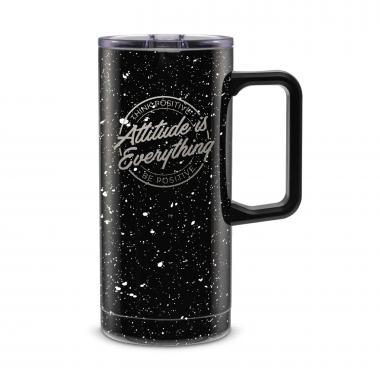 Attitude is Everything Circle 18oz. Travel Camp Mug