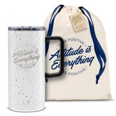 Vacuum Insulated - Attitude is Everything Circle 18oz. Travel Camp Mug