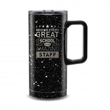 Behind Every Great School 18oz. Travel Camp Mug