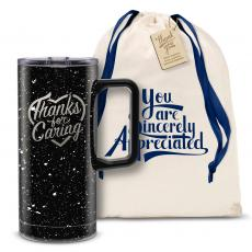 Vacuum Insulated - Thanks for Caring 18oz. Travel Camp Mug