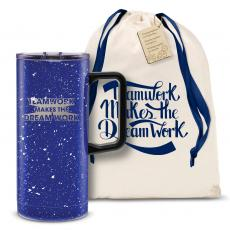 Vacuum Insulated - Teamwork Dream Work 3D 18oz. Travel Camp Mug