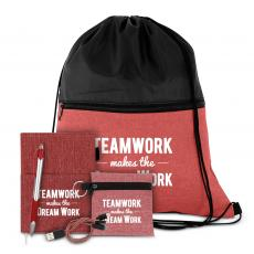 Canvas Bags - Teamwork Makes the Dream Work Drawstring Gift Set