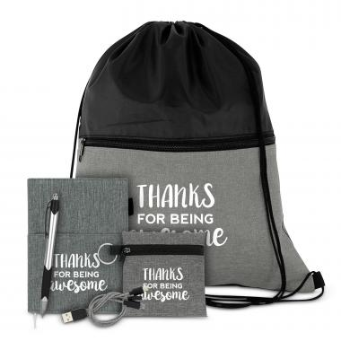 Thanks for Being Awesome Drawstring Gift Set