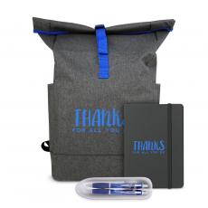 Backpacks - Thanks for All You Do Heather Roll-Down Backpack Set