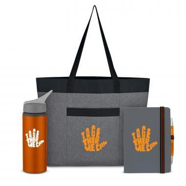 Together We Can Heathered Tote Set