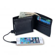 Retirement Gifts - Personalized Vegan Leather Charging Wallet