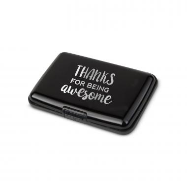 Thanks for Being Awesome Aluminum Tech Wallet