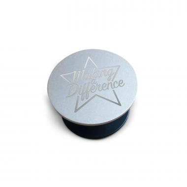 Silver Personalized Pop Socket