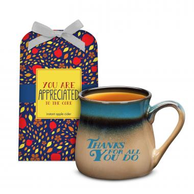 Thanks for All You Do Stone Mug & Cider Gift Set