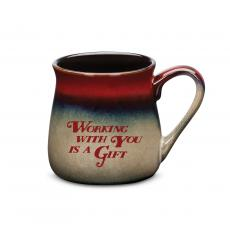 Ceramic Mugs - Working With You is a Gift Stone Mug