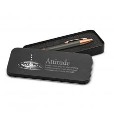 Rose Gold Pens - Attitude Drop Rose Gold Pen & Case