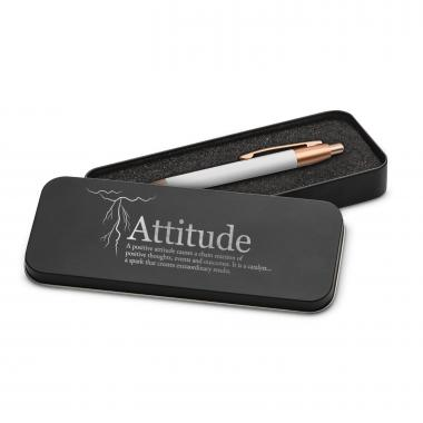 Attitude Lightning Rose Gold Pen & Case