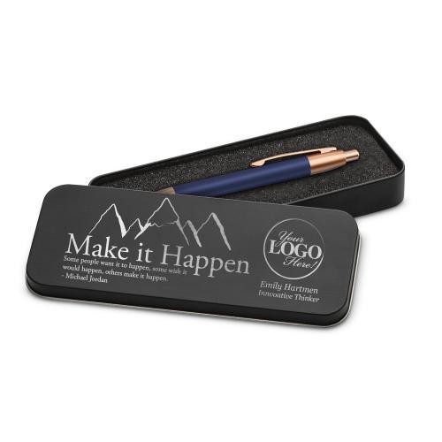 Make It Happen Mountain Rose Gold Pen & Case