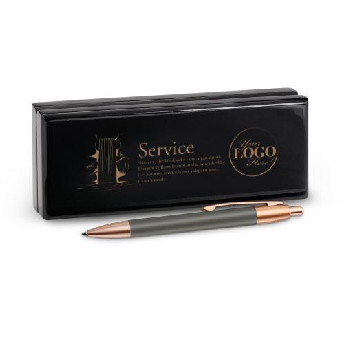 Service Waterfall Rose Gold Pen & Case