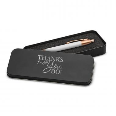 Thanks for All You Do Rose Gold Pen & Case