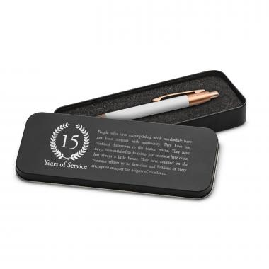 Years of Service Rose Gold Pen & Case