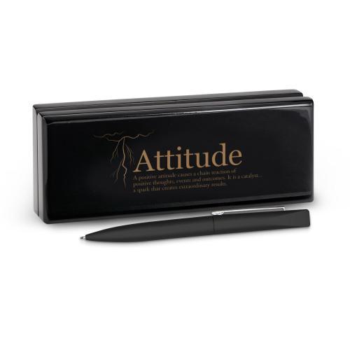 Attitude Lightning Soft Touch Pen & Case