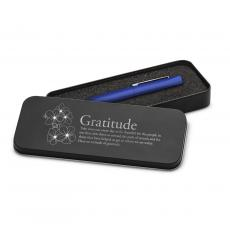 Thank You Gifts - Gratitude Cherry Blossoms Soft Touch Pen & Case