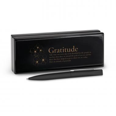 Gratitude Cherry Blossoms Soft Touch Pen & Case