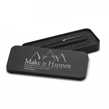 Make It Happen Mountain Soft Touch Pen & Case