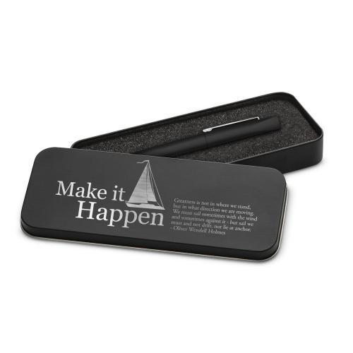 Make It Happen Sailboat Soft Touch Pen & Case
