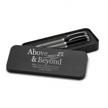 Above & Beyond Jets Carbon Fiber Pen Set & Case