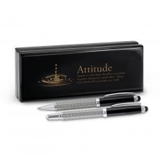 Roller Ball Pen Sets - Attitude Drop Carbon Fiber Pen Set & Case