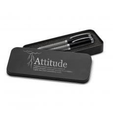 Executive Gift Pens - Attitude Lightning Carbon Fiber Pen Set & Case