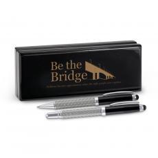 Roller Ball Pen Sets - Be the Bridge Carbon Fiber Pen Set & Case