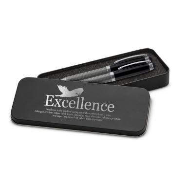 Excellence Eagle Carbon Fiber Pen Set & Case