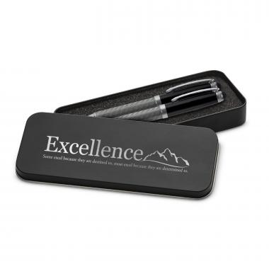 Excellence Mountain Carbon Fiber Pen Set & Case