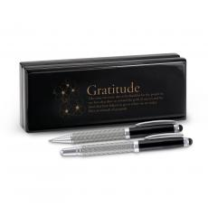 Thank You Gifts - Gratitude Cherry Blossoms Carbon Fiber Pen Set & Case