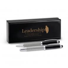 Roller Ball Pen Sets - Leadership Eagle Carbon Fiber Pen Set & Case