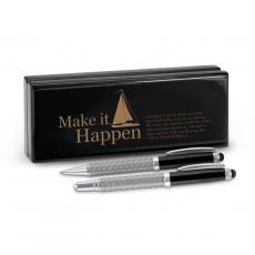 Roller Ball Pen Sets - Make It Happen Sailboat Carbon Fiber Pen Set & Case