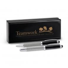 Executive Gift Pens - Teamwork Ants Carbon Fiber Pen Set & Case