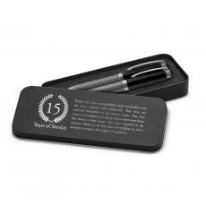Roller Ball Pen Sets - Years of Service Carbon Fiber Pen Set & Case