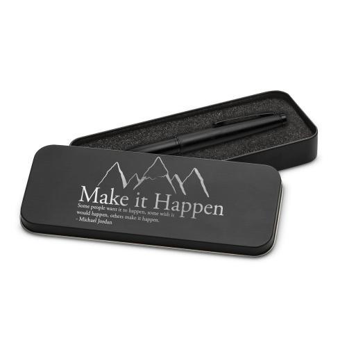 Make It Happen Mountain Two-Tone Stylus Pen & Case