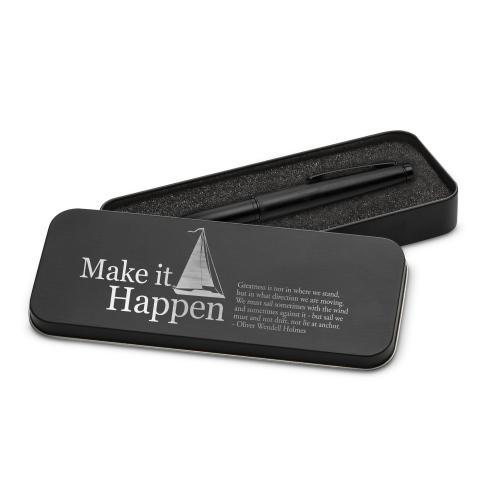Make It Happen Sailboat Two-Tone Stylus Pen & Case